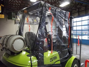 Atrium Full Forklift Enclosure up to 6,000 lbs 1