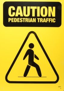 Caution Pedestrian Traffic Sign
