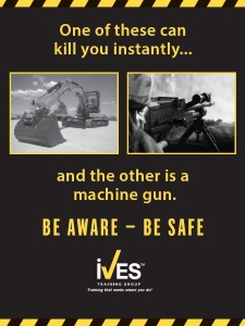 Excavator Trainer Power Pack Safety Poster