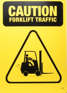 Caution Forklift Traffic Sign