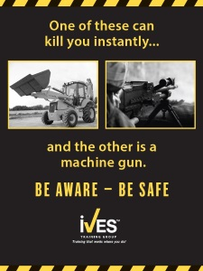 Loader Backhoe Safety Poster