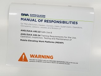 ANSI/SIA A92.5-2006 ABL Manual of Responsibilities